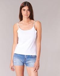 Υφασμάτινα Γυναίκα Αμάνικα / T-shirts χωρίς μανίκια BOTD FAGALOTTE Άσπρο