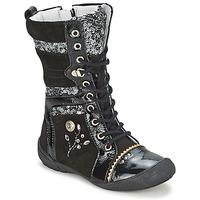 Παπούτσια Κορίτσι Μπότες Catimini CYLENE Vns / ΜΑΥΡΟ-paillet / Dpf / 2530