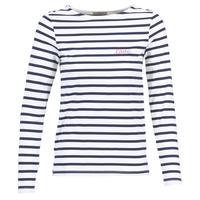 Υφασμάτινα Γυναίκα Μπλουζάκια με μακριά μανίκια Betty London FLIGEME άσπρο / μπλέ