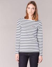 Υφασμάτινα Γυναίκα Μπλουζάκια με μακριά μανίκια Betty London IFLIGEME Άσπρο / Μπλέ