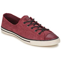 Παπούτσια Γυναίκα Χαμηλά Sneakers Converse Chuck Taylor All Star FANCY LEATHER OX Bordeaux