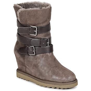 Παπούτσια Γυναίκα Μποτίνια Ash YES Taupe