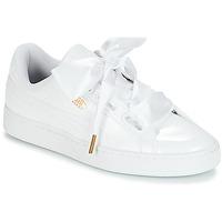 Παπούτσια Γυναίκα Χαμηλά Sneakers Puma BASKET HEART PATENT WN'S Άσπρο