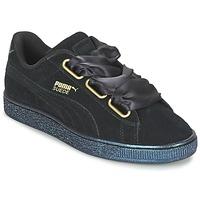 Παπούτσια Γυναίκα Χαμηλά Sneakers Puma BASKET HEART SATIN WN'S Black