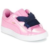 Παπούτσια Κορίτσι Χαμηλά Sneakers Puma BASKET HEART PATENT PS Ροζ / Marine