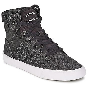 Παπούτσια Γυναίκα Ψηλά Sneakers Supra SKYTOP Black / άσπρο