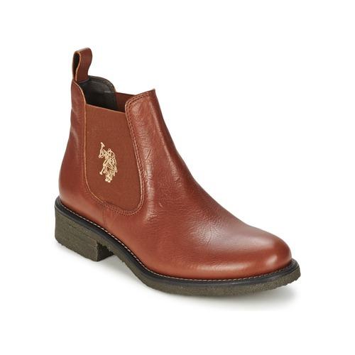 Παπούτσια Γυναίκα Μπότες US Polo Ass. Grèce FARIS Brown