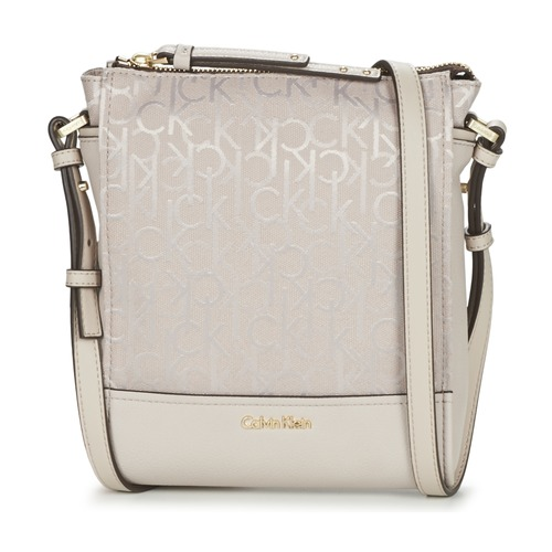Τσάντες Γυναίκα Τσάντες ώμου Calvin Klein Jeans MARINA LOGO FLAT CROSSBODY Beige
