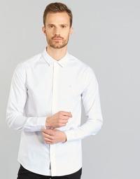 Υφασμάτινα Άνδρας Πουκάμισα με μακριά μανίκια Calvin Klein Jeans WILBERT άσπρο