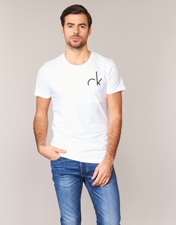 Υφασμάτινα Άνδρας T-shirt με κοντά μανίκια Calvin Klein Jeans TYPE CN άσπρο