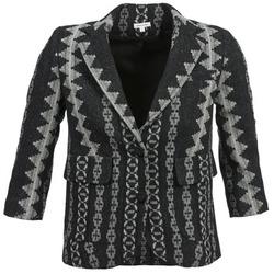 Υφασμάτινα Γυναίκα Σακάκι / Blazers Manoush TAILLEUR Grey / Black