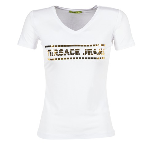 Υφασμάτινα Γυναίκα T-shirt με κοντά μανίκια Versace Jeans B2HPA7GC Άσπρο