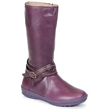Παπούτσια Κορίτσι Μπότες για την πόλη Garvalin TARDA Μώβ