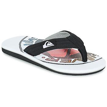 Παπούτσια Παιδί Σαγιονάρες Quiksilver MOLOKAI LAYBACK Black / Άσπρο / Red