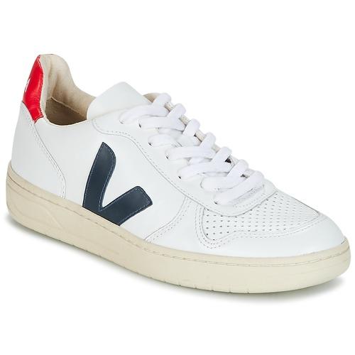 Παπούτσια Χαμηλά Sneakers Veja V-10 άσπρο / μπλέ / Red