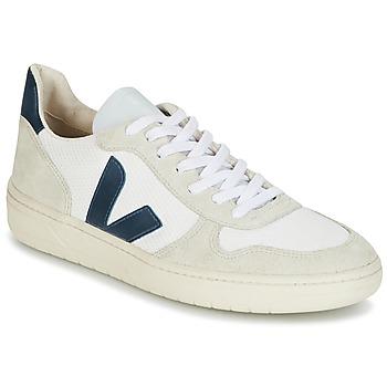 Παπούτσια Άνδρας Χαμηλά Sneakers Veja V-10 άσπρο / μπλέ