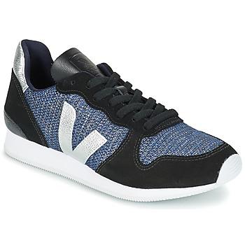 Παπούτσια Γυναίκα Χαμηλά Sneakers Veja HOLIDAY LOW TOP Black / μπλέ / Silver
