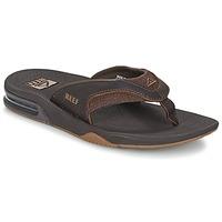 Παπούτσια Άνδρας Σαγιονάρες Reef LEATHER FANNING Brown