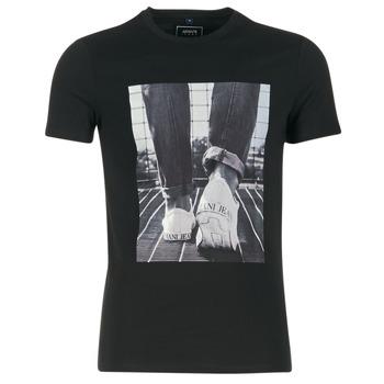 Υφασμάτινα Άνδρας T-shirt με κοντά μανίκια Armani jeans JANADORI Black