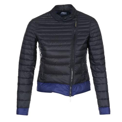 Υφασμάτινα Γυναίκα Μπουφάν Armani jeans BEAUJADO Black / Μπλέ