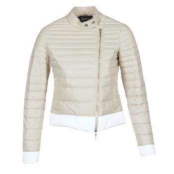 Υφασμάτινα Γυναίκα Μπουφάν Armani jeans BEAUJADO Beige / Άσπρο