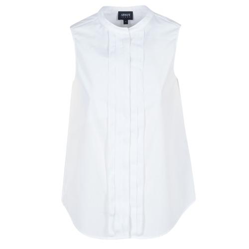 Υφασμάτινα Γυναίκα Πουκάμισα Armani jeans GIKALO Άσπρο