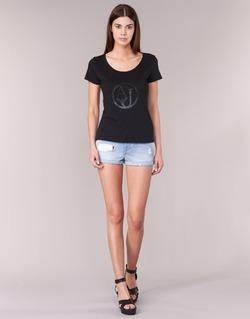 Υφασμάτινα Γυναίκα Σόρτς / Βερμούδες Armani jeans JUTELAPO μπλέ