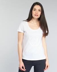 Υφασμάτινα Γυναίκα T-shirt με κοντά μανίκια Armani jeans LASSERO άσπρο