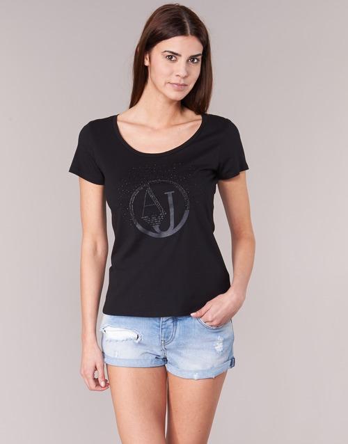 Υφασμάτινα Γυναίκα T-shirt με κοντά μανίκια Armani jeans LASSERO Black