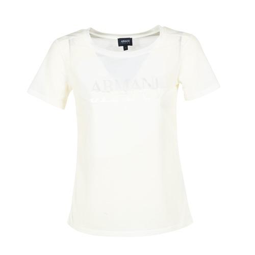 Υφασμάτινα Γυναίκα T-shirt με κοντά μανίκια Armani jeans KAJOLA Άσπρο