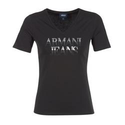 Υφασμάτινα Γυναίκα T-shirt με κοντά μανίκια Armani jeans JAGONA Black