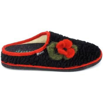 Παπούτσια Γυναίκα Παντόφλες Fargeot Siberie Noir Fleur Black