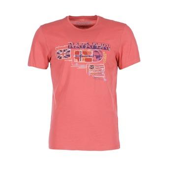 Υφασμάτινα Άνδρας T-shirt με κοντά μανίκια Napapijri VINTAGE CORAIL
