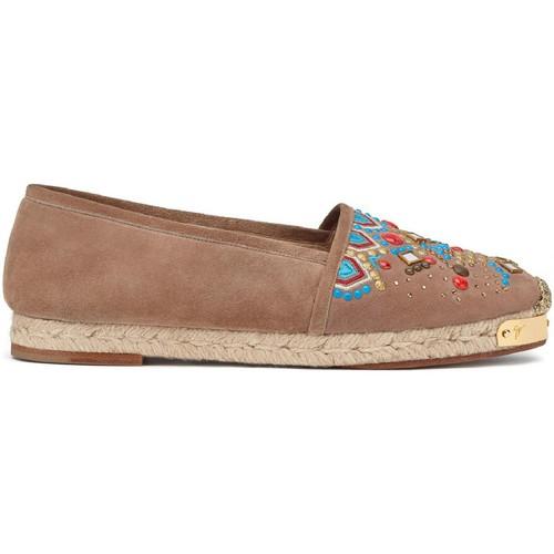 Παπούτσια Γυναίκα Εσπαντρίγια Giuseppe Zanotti E66084 CAPPUCCINO Marrone chiaro