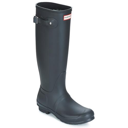 Παπούτσια Γυναίκα Μπότες βροχής Hunter WOMEN'S ORIGINAL TALL Black