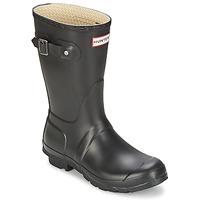 Παπούτσια Γυναίκα Μπότες βροχής Hunter WOMEN'S ORIGINAL SHORT Black