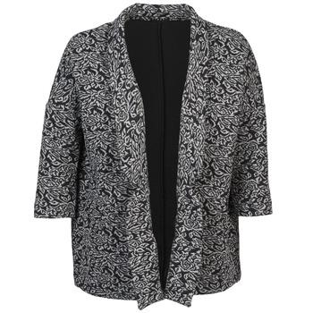 Υφασμάτινα Γυναίκα Σακάκι / Blazers Sisley FRANDA Black / Grey