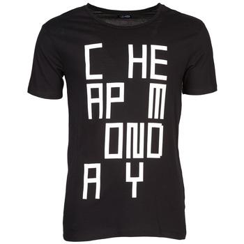 Υφασμάτινα Άνδρας T-shirt με κοντά μανίκια Cheap Monday TYLER Black