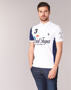 Υφασμάτινα Άνδρας Πόλο με κοντά μανίκια  U.S Polo Assn. SAINT TROPEZ POLO άσπρο