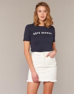 Υφασμάτινα Γυναίκα T-shirt με κοντά μανίκια Loreak Mendian PAYS BASQUE MARINE
