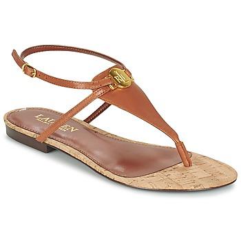 Παπούτσια Γυναίκα Σανδάλια / Πέδιλα Ralph Lauren ANITA SANDALS CASUAL Brown