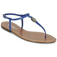 Παπούτσια Γυναίκα Σαγιονάρες Ralph Lauren AIMON SANDALS CASUAL Μπλέ