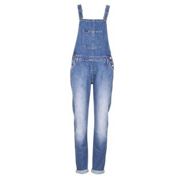 Υφασμάτινα Γυναίκα Ολόσωμες φόρμες / σαλοπέτες Lee RELAXED BIB μπλέ /  CLAIR