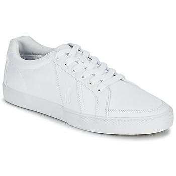 Παπούτσια Άνδρας Χαμηλά Sneakers Ralph Lauren HUGH άσπρο