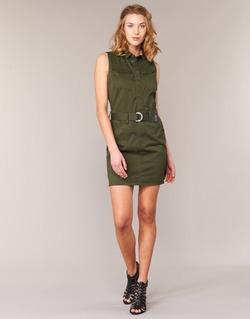 Υφασμάτινα Γυναίκα Κοντά Φορέματα G-Star Raw ROVIC SLIM DRESS S/LESS KAKI