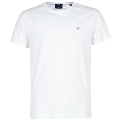 Υφασμάτινα Άνδρας T-shirt με κοντά μανίκια Gant THE ORIGINAL T-SHIRT Άσπρο