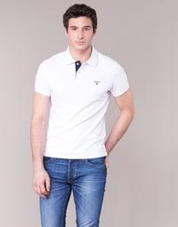 Υφασμάτινα Άνδρας Πόλο με κοντά μανίκια  Gant CONTRAST COLLAR PIQUE άσπρο