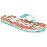 Παπούτσια Γυναίκα Σαγιονάρες Superdry CORK COLOUR POP FLIP FLOP Άσπρο / Ροζ / Μπλέ