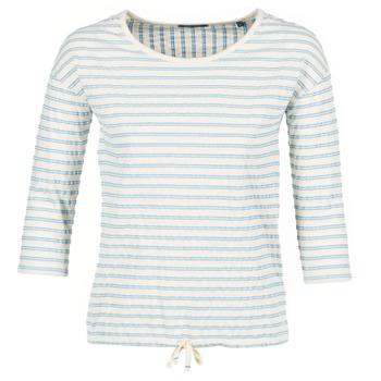 Υφασμάτινα Γυναίκα Μπλούζες Marc O'Polo GRASSIRCO Άσπρο / Μπλέ