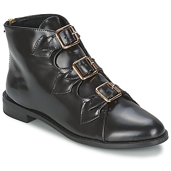 Παπούτσια Γυναίκα Μποτίνια F-Troupe Triple Buckle Boot Μαυρο